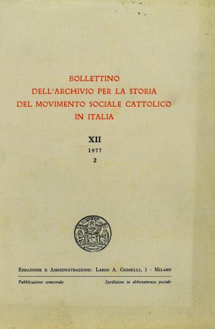 Per la storia delle casse rurali cattoliche in Italia (1891-1932): lo stato degli studi e le prospettive di ricerca
