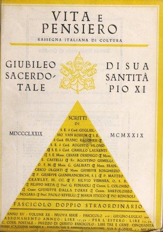 Pio XI e l'alta coltura. La pontificia accademia delle scienze