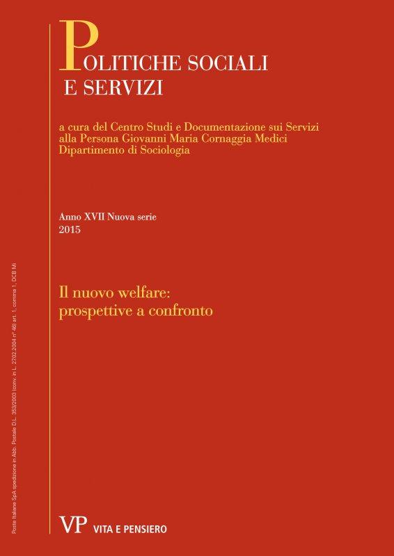 POLITICHE SOCIALI E SERVIZI. Abbonamento annuale 2015