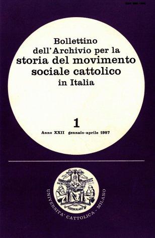 Prime esperienze sindacali di cattolici e socialisti a Catania nell'età giolittiana (1894-1914)