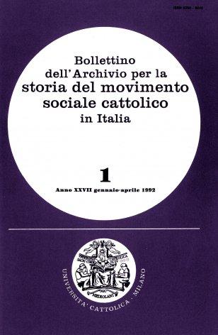 Primo elenco di pubblicazioni edite in Italia sul movimento cattolico durante il periodo fascista