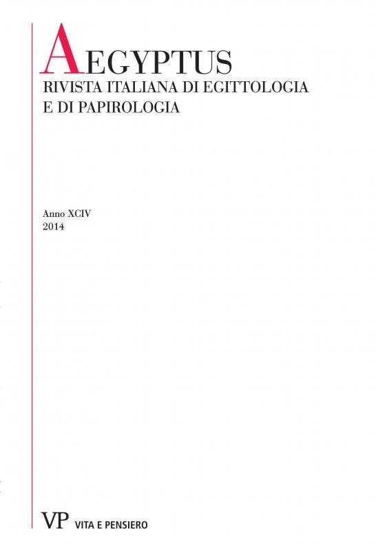 Pubblicazioni di S. Curto e S. Donadoni in Aegyptus