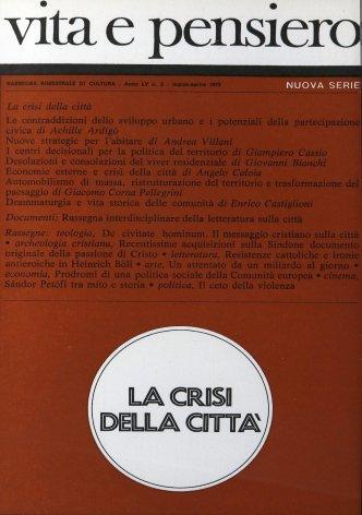 Rassegna interdisciplinare della letteratura sulla città