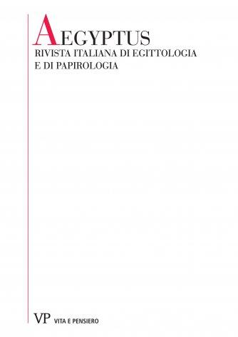 Ricerche di sociologia nei documenti dell'Egitto greco-romano