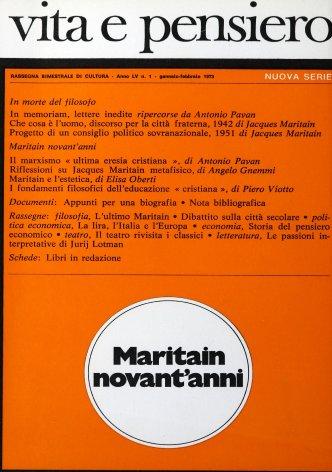 Riflessioni su Jacques Maritain metafisico
