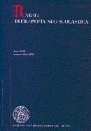 RIVISTA DI FILOSOFIA NEO-SCOLASTICA - 2008 - 1