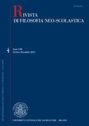 RIVISTA DI FILOSOFIA NEO-SCOLASTICA - 2012 - 2-3