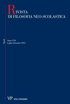 RIVISTA DI FILOSOFIA NEO-SCOLASTICA - 2015 - 3