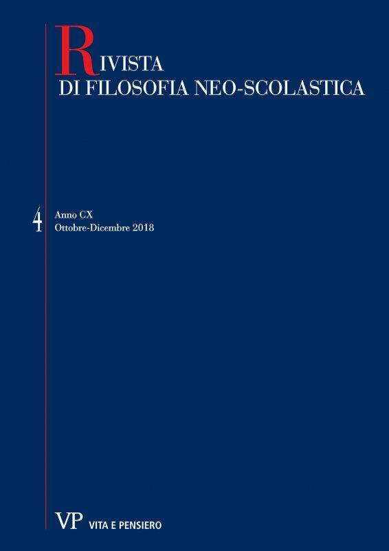 RIVISTA DI FILOSOFIA NEO-SCOLASTICA - 2018 - 4