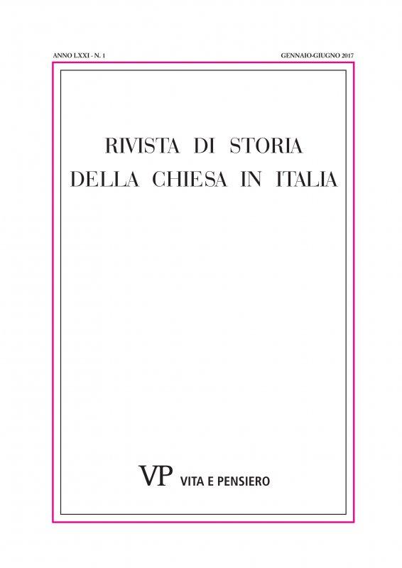 RIVISTA DI STORIA DELLA CHIESA IN ITALIA. Abbonamento annuale 2019