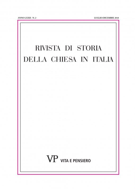 RIVISTA DI STORIA DELLA CHIESA IN ITALIA. Abbonamento annuale 2020