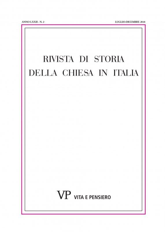 RIVISTA DI STORIA DELLA CHIESA IN ITALIA. Abbonamento annuale 2021