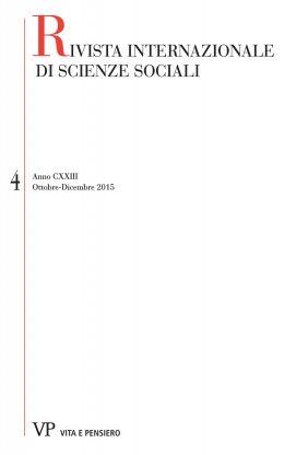 RIVISTA INTERNAZIONALE DI SCIENZE SOCIALI - 2015 - 4