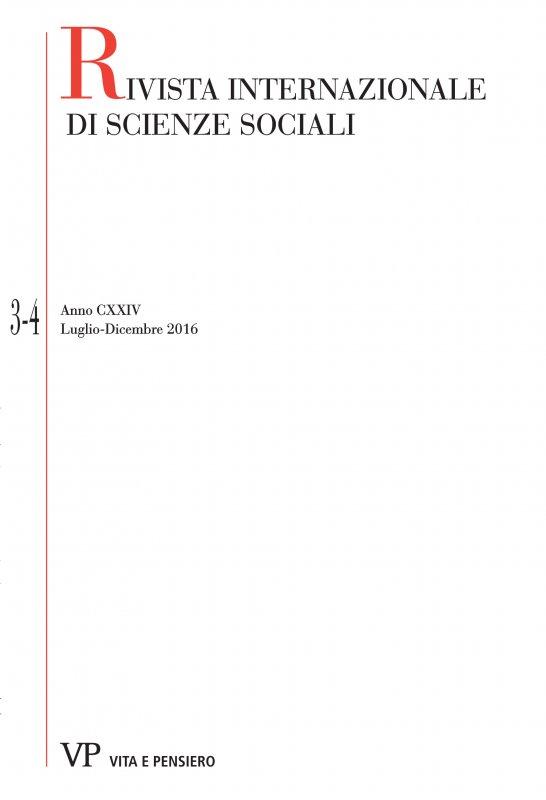 RIVISTA INTERNAZIONALE DI SCIENZE SOCIALI - 2016 - 3-4