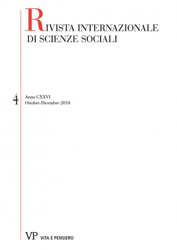 RIVISTA INTERNAZIONALE DI SCIENZE SOCIALI - 2018 - 4. An Issue in Honour of Giacomo Vaciago