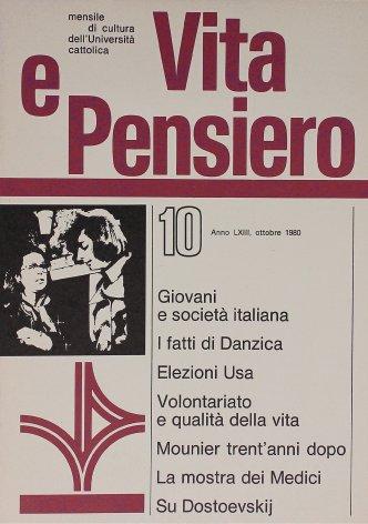 Società italiana e coscienza giovanile verso gli anni ottanta