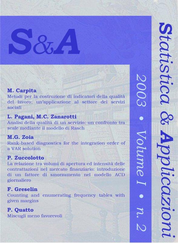 STATISTICA & APPLICAZIONI - 2003 - 2