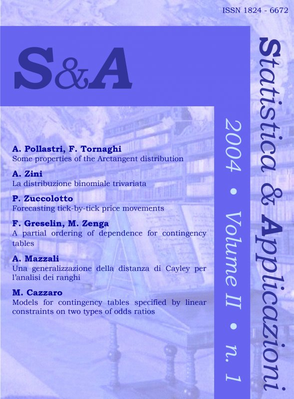 STATISTICA & APPLICAZIONI - 2004 - 1