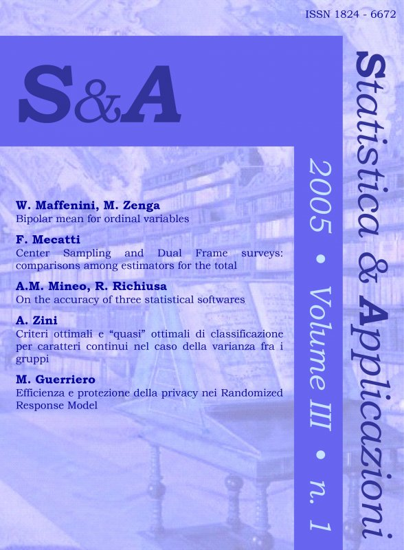 STATISTICA & APPLICAZIONI - 2005 - 1