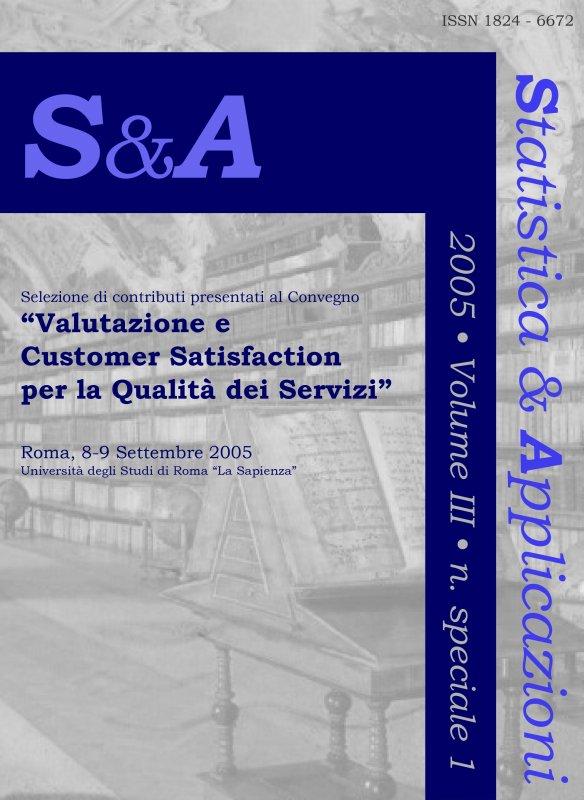 STATISTICA & APPLICAZIONI - 2005 - Special issue