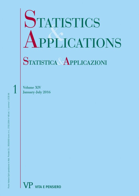 STATISTICA & APPLICAZIONI - 2016 - 1