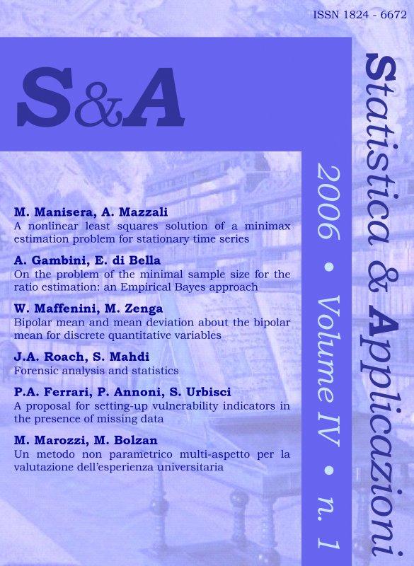 STATISTICA & APPLICAZIONI - 2006 - 1