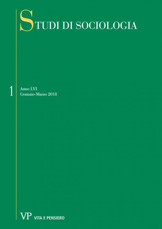 STUDI DI SOCIOLOGIA. Abbonamento annuale 2019