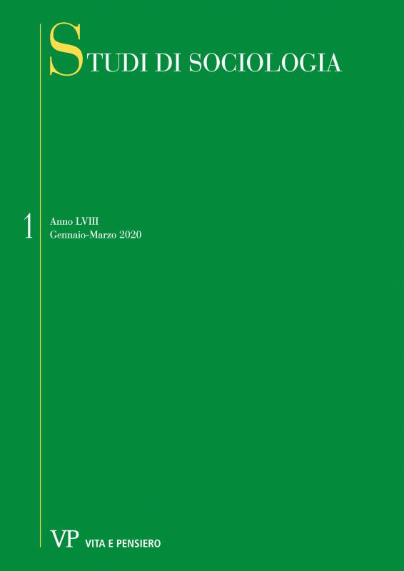 STUDI DI SOCIOLOGIA. Abbonamento annuale 2021