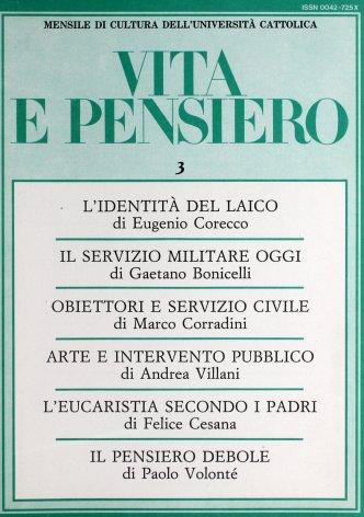 Sul servizio militare oggi in Italia