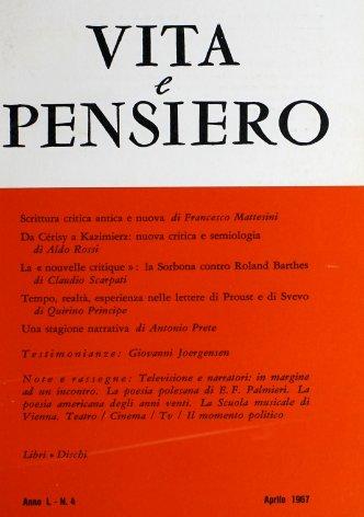 Tempo, realtà, esperienza nelle lettere di Proust e di Svevo