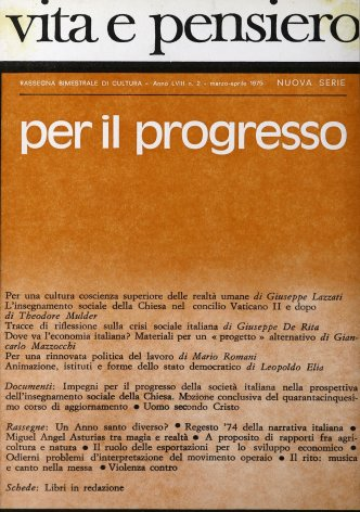 Tracce di riflessione sulla crisi sociale italiana