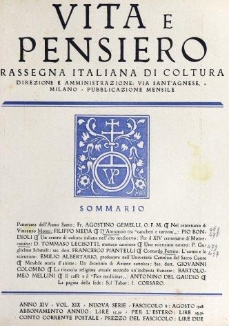 Un centro di coltura italiana nell'alto medioevo. Per il XVI centenario di Montecassino