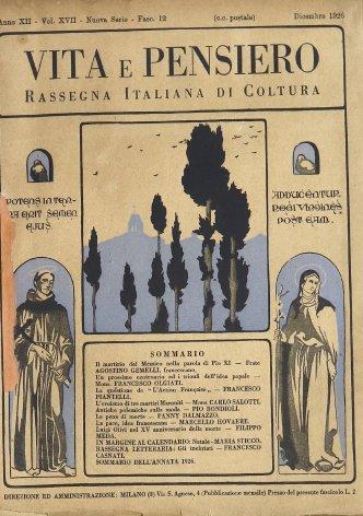 Un prossimo centenario ed i trionfi dell'idea papale