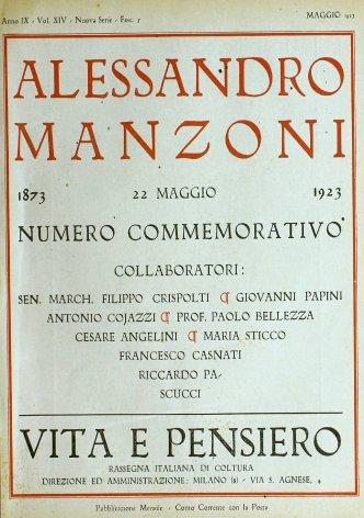 Un quadernetto inedito di Alessandro Manzoni