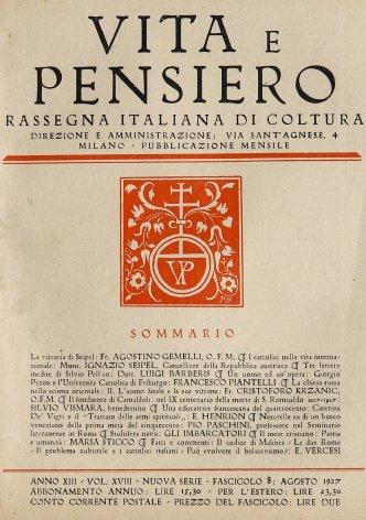 Un uomo ed un'opera: Giorgio Pyron e l'Università Cattolica di Friburgo