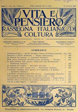VITA E PENSIERO - 1915 - 10