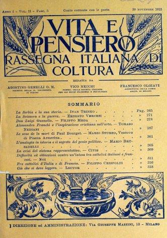 VITA E PENSIERO - 1915 - 11