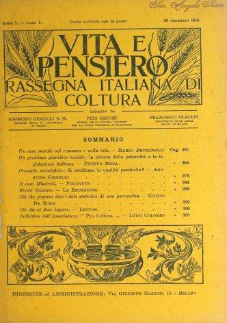 VITA E PENSIERO - 1915 - 2