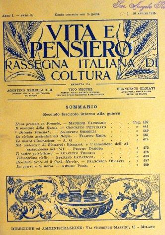 VITA E PENSIERO - 1915 - 4