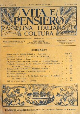 VITA E PENSIERO - 1915 - 6