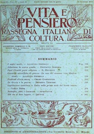 VITA E PENSIERO - 1916 - 10
