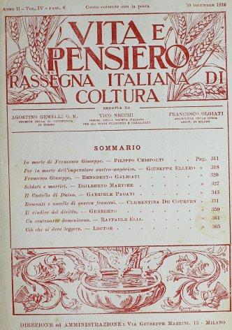 VITA E PENSIERO - 1916 - 12