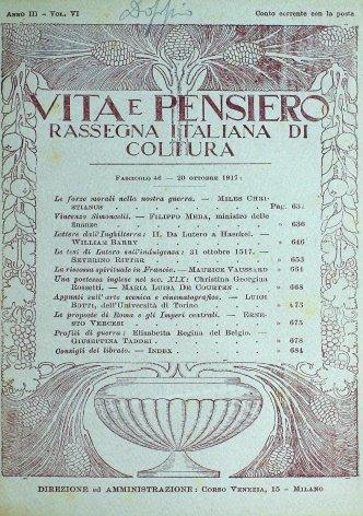 VITA E PENSIERO - 1917 - 10