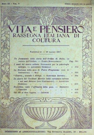 VITA E PENSIERO - 1917 - 5