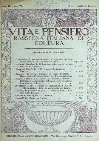 VITA E PENSIERO - 1917 - 8