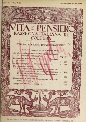 VITA E PENSIERO - 1918 - 11