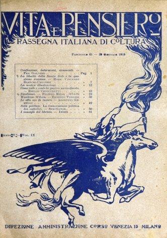 VITA E PENSIERO - 1919 - 1