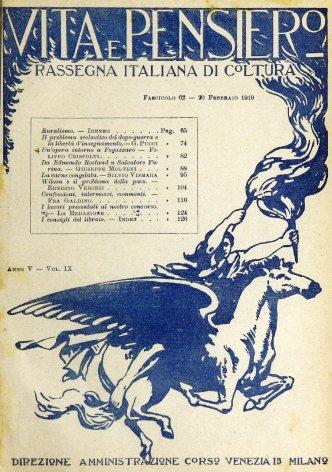 VITA E PENSIERO - 1919 - 2