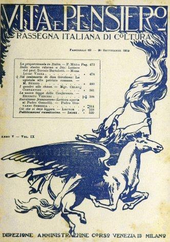 VITA E PENSIERO - 1919 - 9