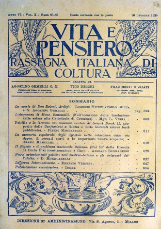 VITA E PENSIERO - 1920 - 10